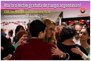 lectia gratuita de tango in aprilie